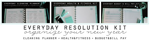 Everyday Resolution Kit small - Clean Mama Printables