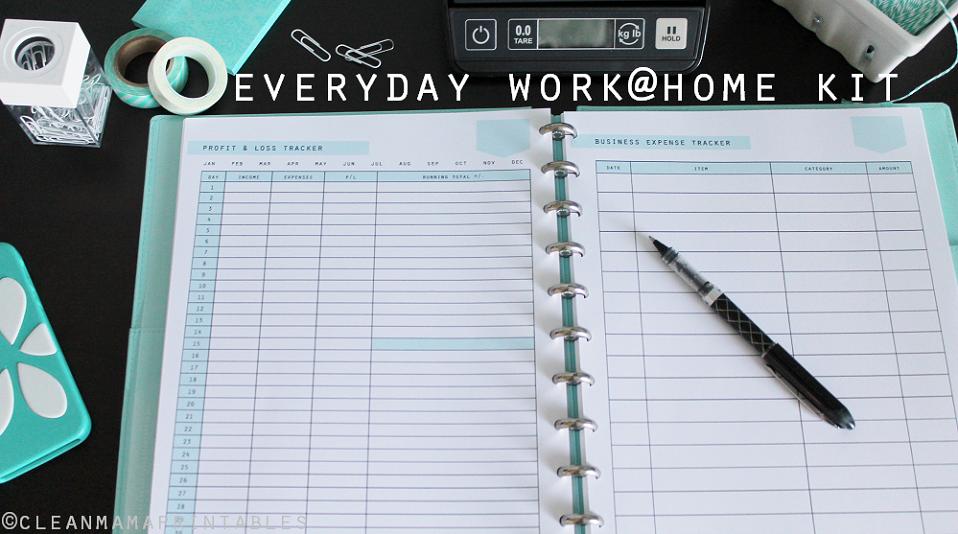 Everyday Work @ Home Kit main - Clean Mama Printables