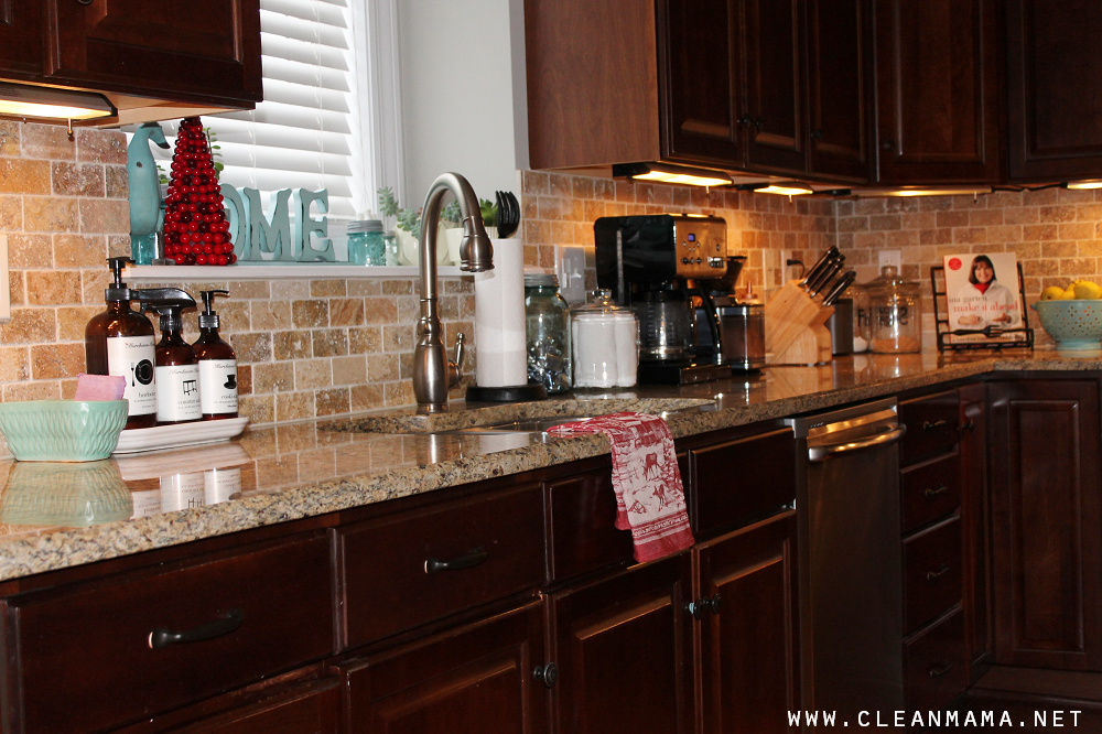 Get in the habit of wiping down the counters every night - Clean Mama