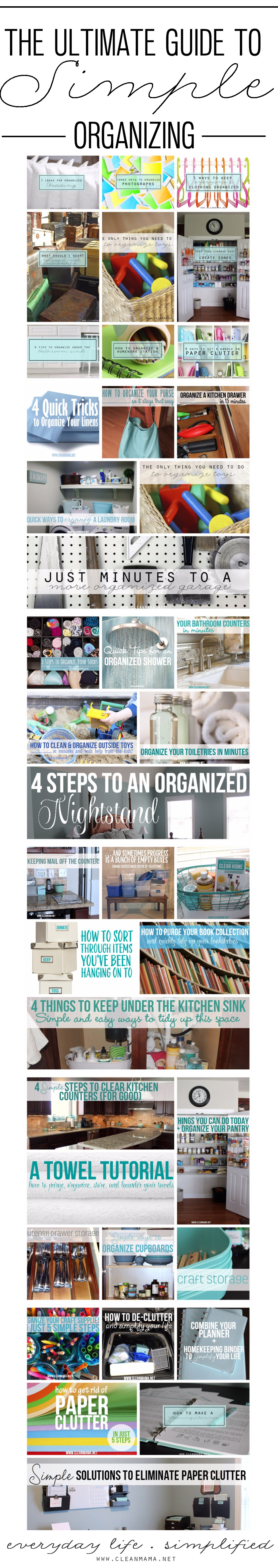 The Ultimate Guide to Simple Organizing via Clean Mama