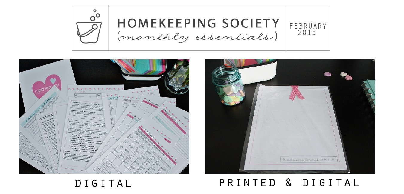 Homekeeping Society February 2015 Digital and Printed for Your via Clean Mama