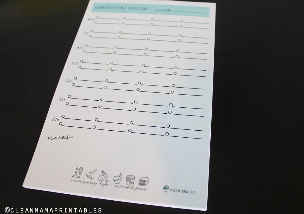 Homekeeping Notepad Full - Clean Mama