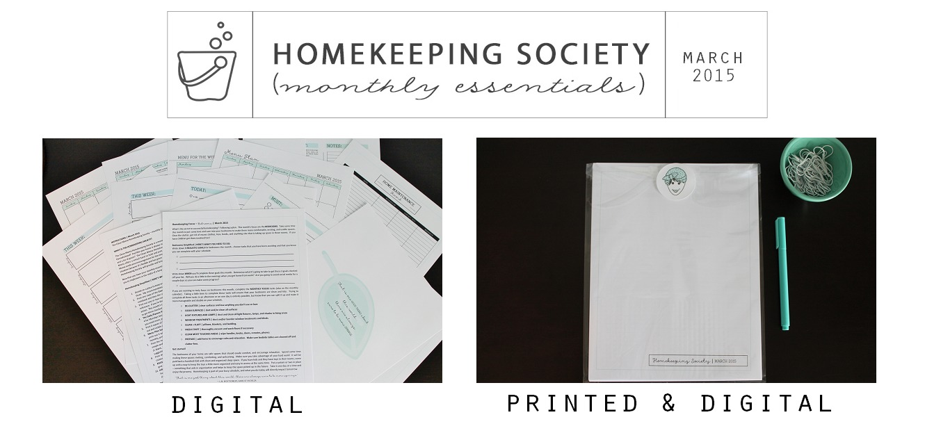 Homekeeping Society March 2015 Digital and Printed for Your via Clean Mama