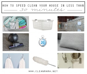 How to Speed Clean Your House in Less than 30 Minutes via Clean Mama 1