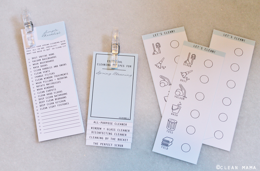 Mini Checklists to Make Spring Cleaning Simple - Clean Mama's Spring Cleaning Kit