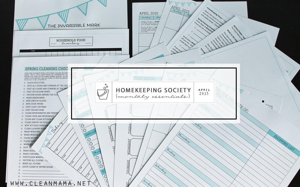 April 2015 Homekeeping Society main Clean Mama