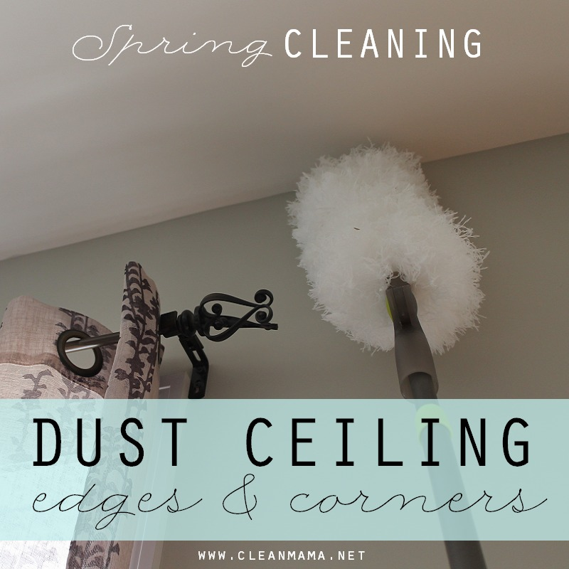 Day 1 Dust Ceiling via Clean Mama