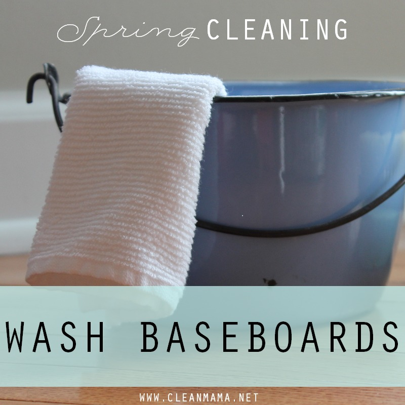 Day 5 Wash Baseboards via Clean Mama