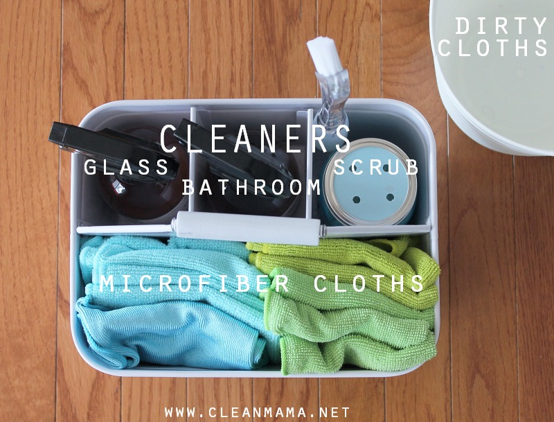 Gather Your Quick Clean Tools for Bathroom Speed Cleaning via Clean Mama