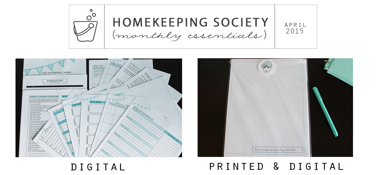 Homekeeping Society April 2015 Digital and Printed for Your via Clean Mama