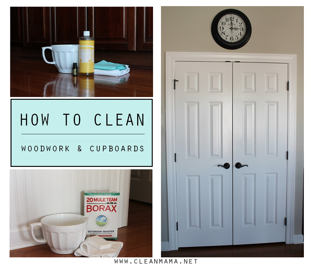 How to Clean Woodwork and Cupboards via Clean Mama