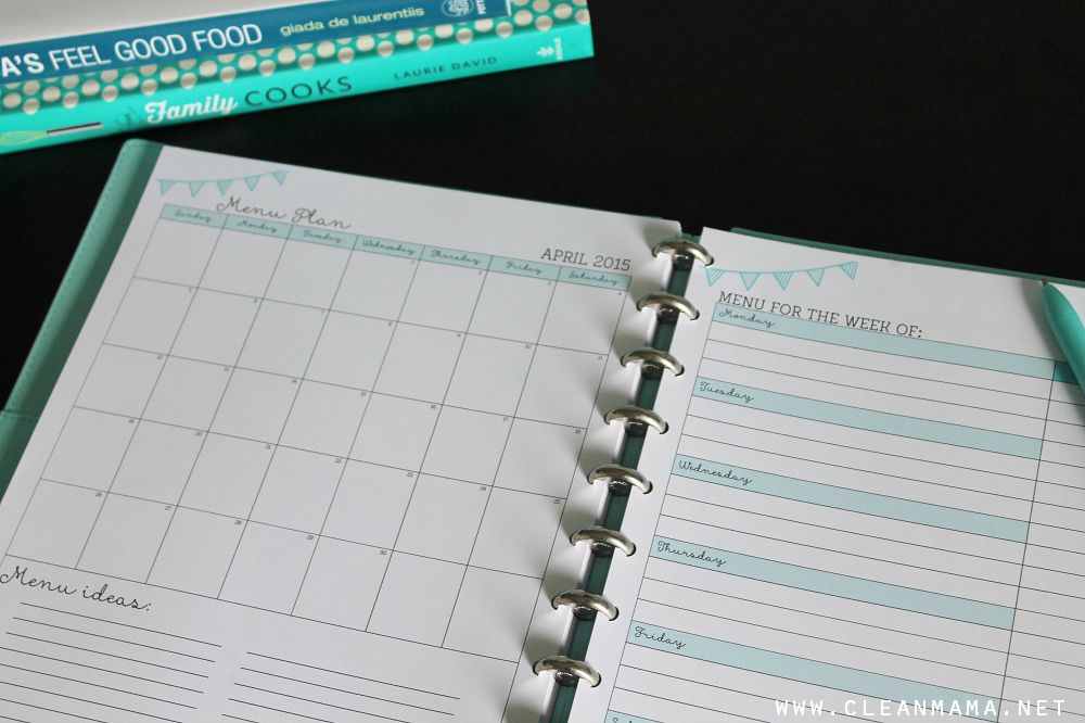 Menu Planning - April Homekeeping Society - Clean Mama