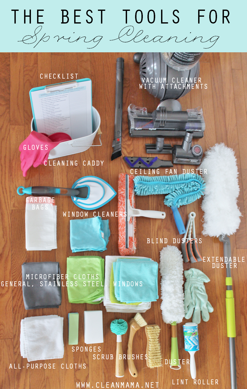 The Best Tools for Spring Cleaning - details -  via Clean Mama