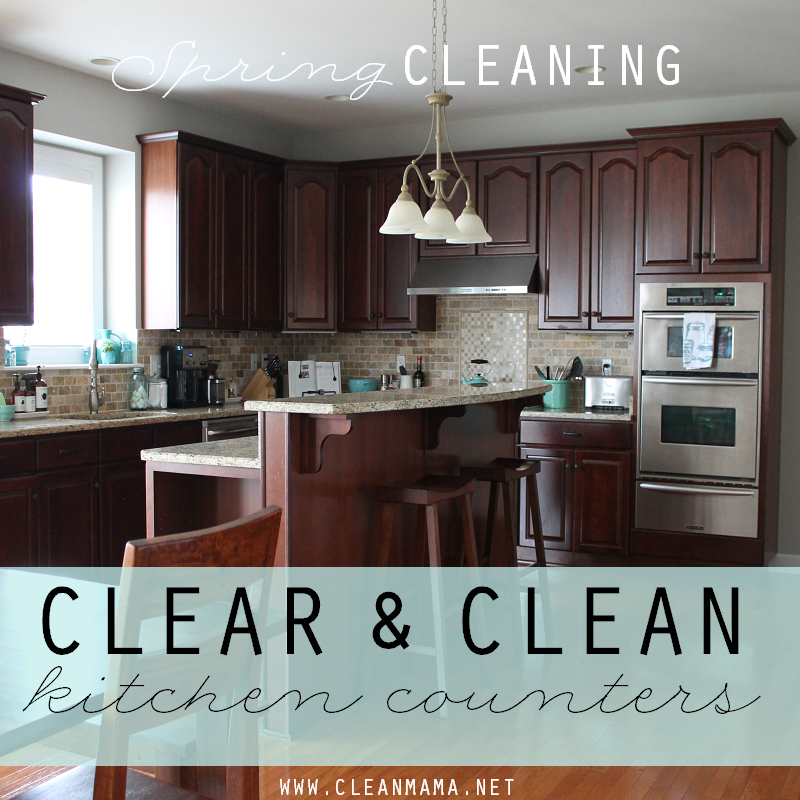 DAY 14 Clear and Clean Kitchen Counters via Clean Mama