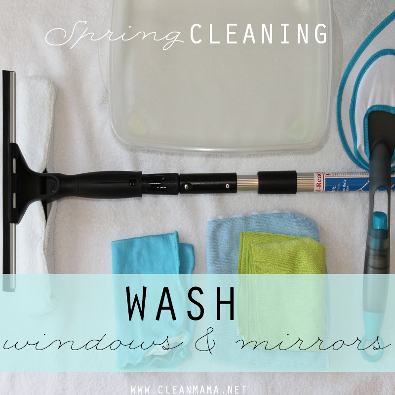 DAY 18 Wash windows and mirrors via Clean Mama