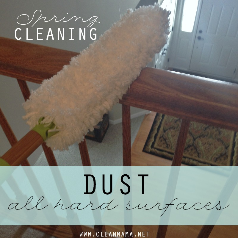 DAY 24 Dust All Hard Surfaces via Clean Mama