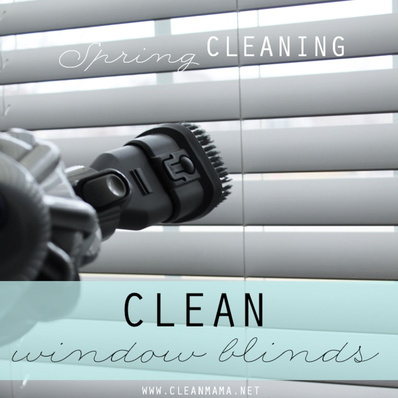 DAY 27 - Clean Window Blinds via Clean Mama