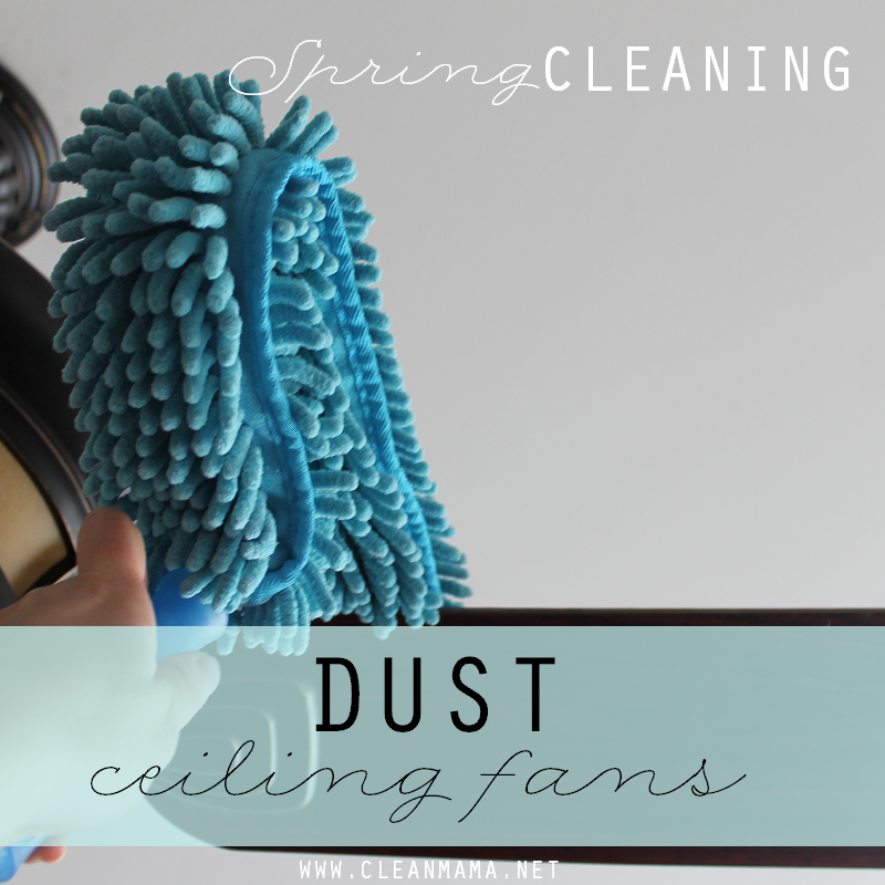 Day 11 Dust Ceiling Fans via Clean Mama