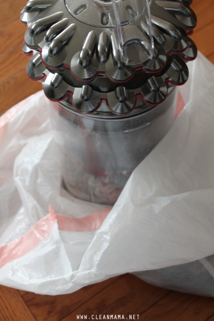 Empty Canister in a Garbage Bag via Clean mama