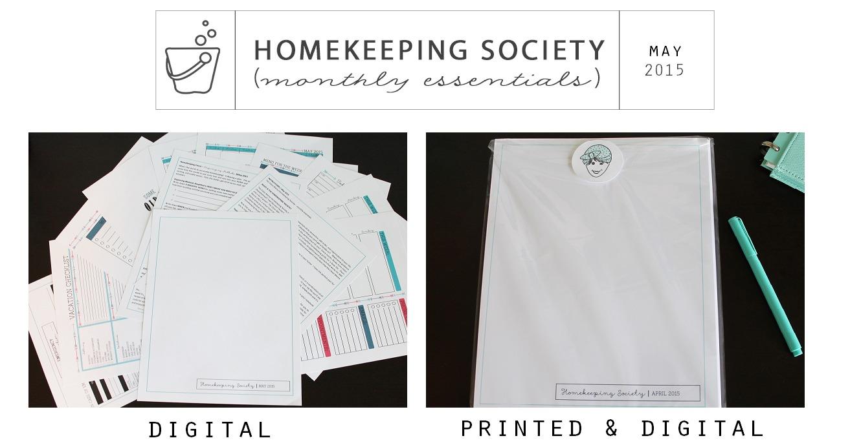 Homekeeping Society May 2015 Digital and Printed for You via Clean Mama