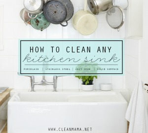 How to Clean Any Kitchen Sink via Clean Mama