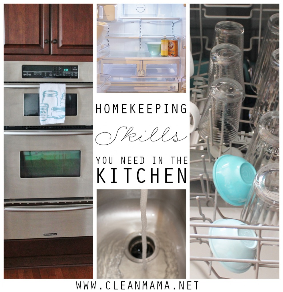 Kitchen Homekeeping Skills You Need In the Kitchen via Clean Mama