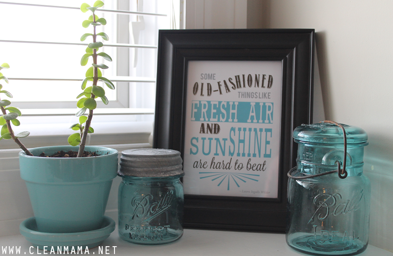 May Homekeeping Society - Quote for the Kitchen Sink via Clean Mama