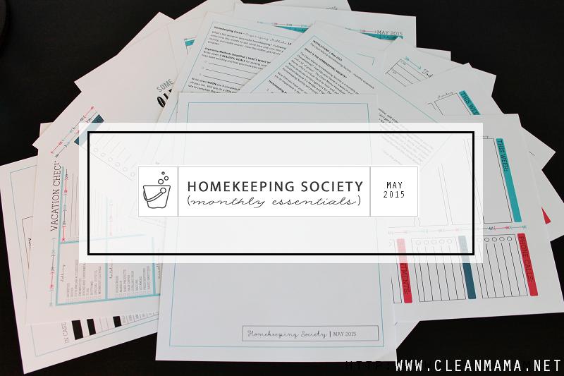 May Homekeeping Society - main - via Clean Mama