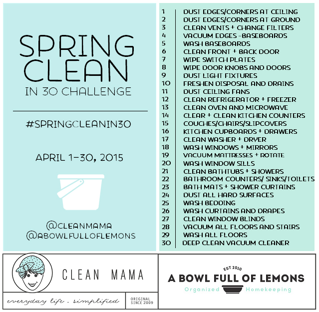 Spring Cleaning Quotes Best Spring Clean In 30 Challenge  Clean Mama