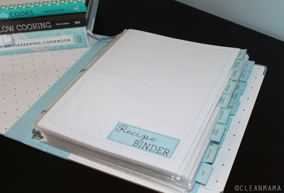 Clean Mama's Recipe Binder Kit via Clean Mama