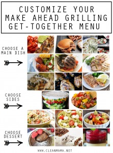 Customize Your Make Ahead Grilling and Get Together Menu via Clean Mama