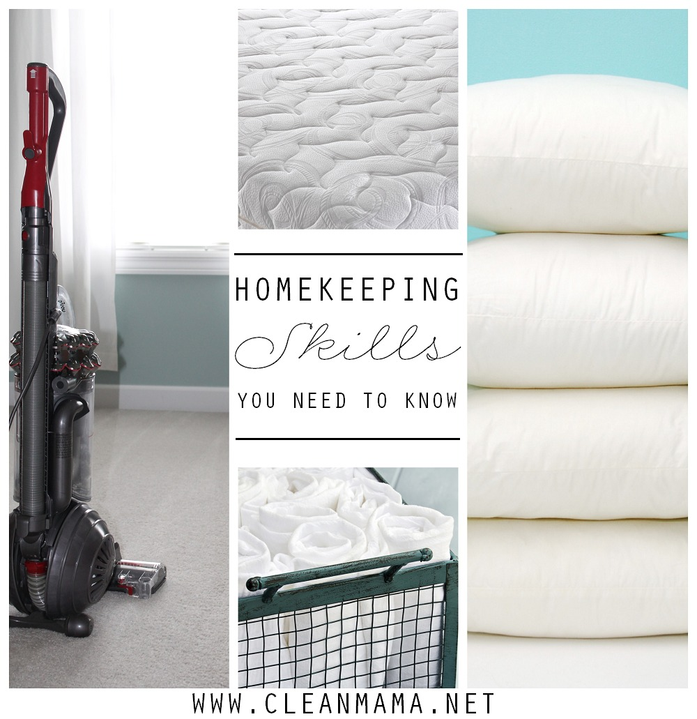 Homekeeping Skills You Need to Know via Clean Mama