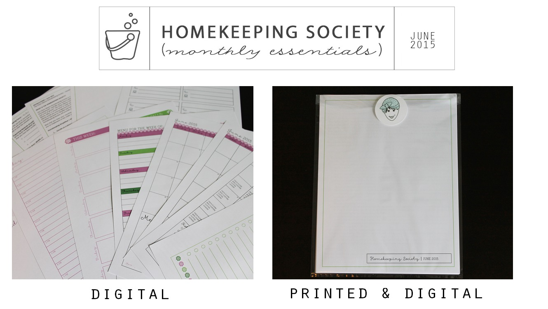 Homekeeping Society June 2015 Digital and Printed for You via Clean Mama