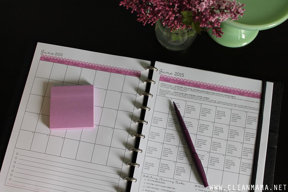 June Homekeeping Society via Clean Mama - Calendars