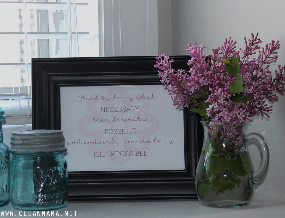 June Homekeeping Society via Clean Mama - Quote for the Kitchen Sink