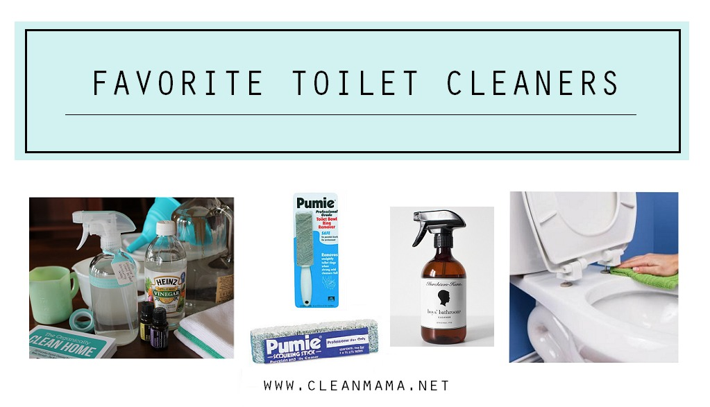 Favorite Toilet Cleaners via Clean Mama