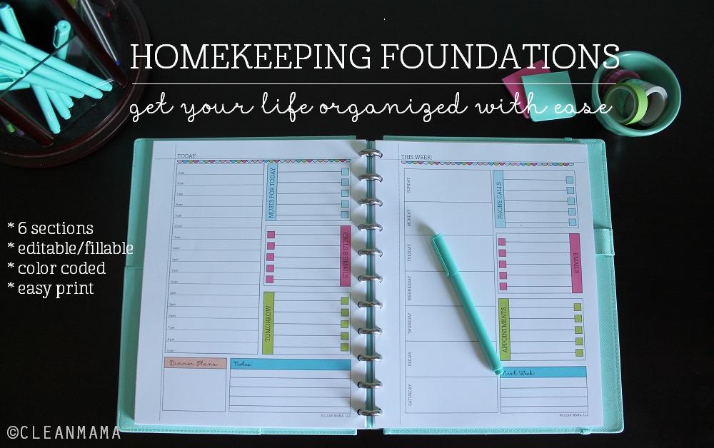 Homekeeping Foundations MAIN via Clean mama