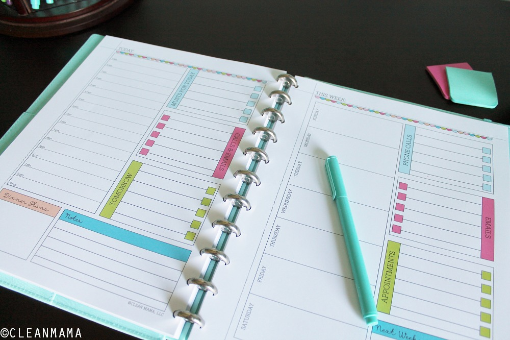 Homekeeping Foundations planner pages via Clean Mama