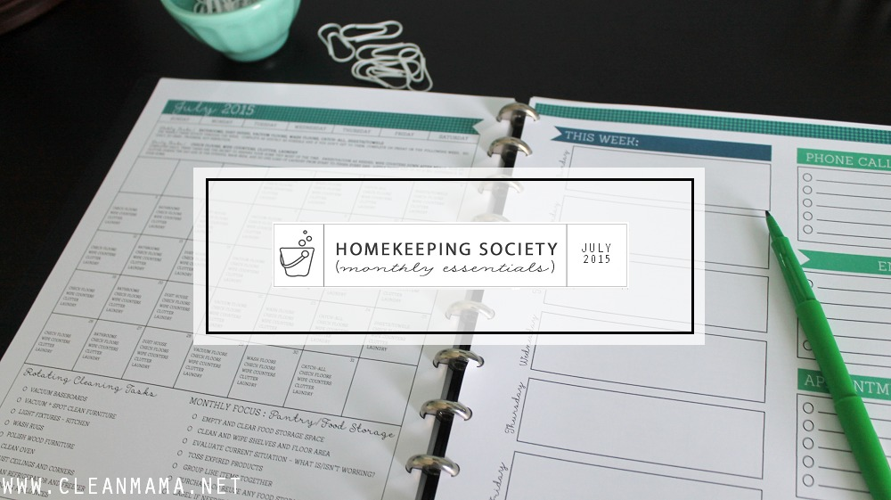 July Homekeeping Society Main - Clean Mama