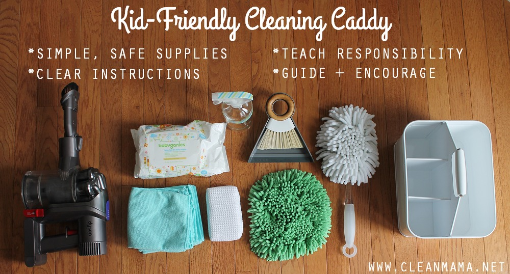 Kid Friendly Cleaning Caddy via Clean Mama
