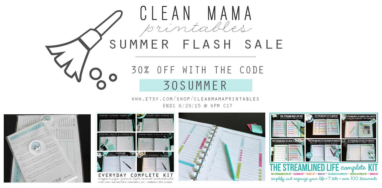Summer Flash Sale - Clean Mama Printables