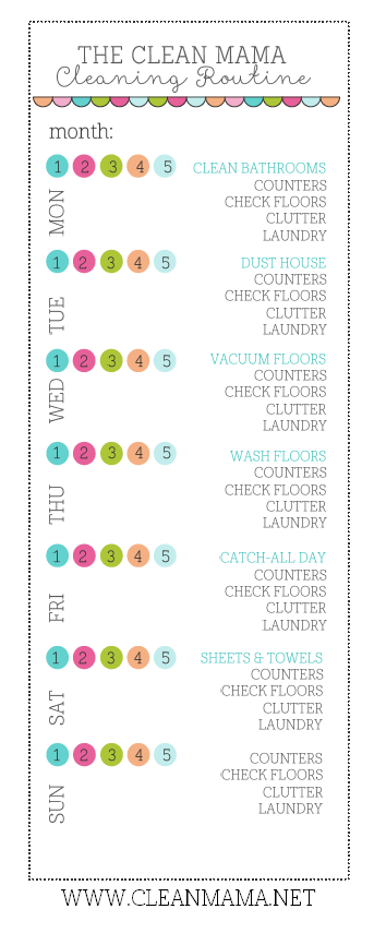 It is a graphic of Old Fashioned Clean Mama Printables