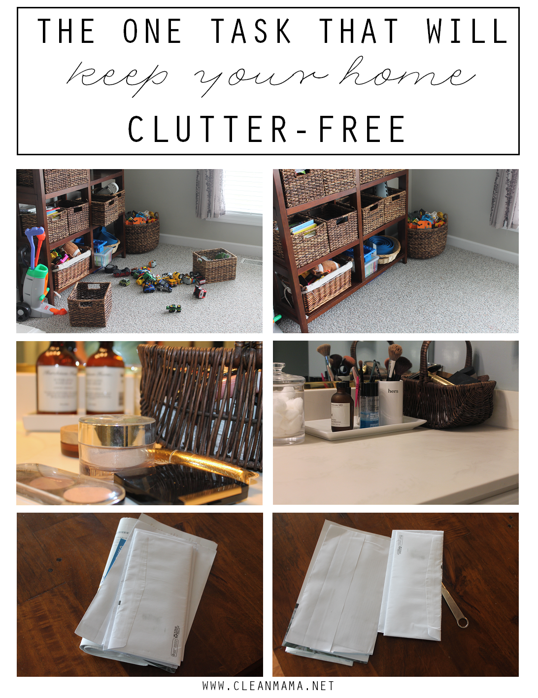 The One Task That Will Keep Your Home Clutter-Free via Clean Mama