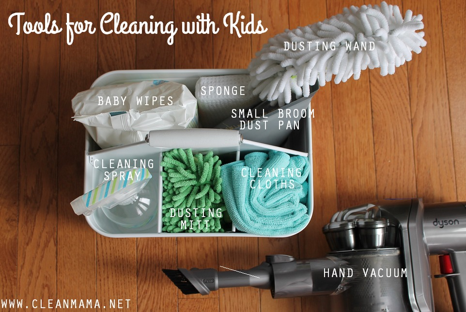 Tools for Cleaning With Kids via Clean Mama