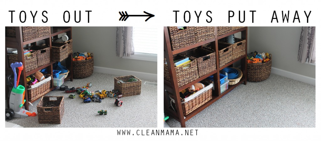 Toys Out - Toys Put Away via Clean Mama