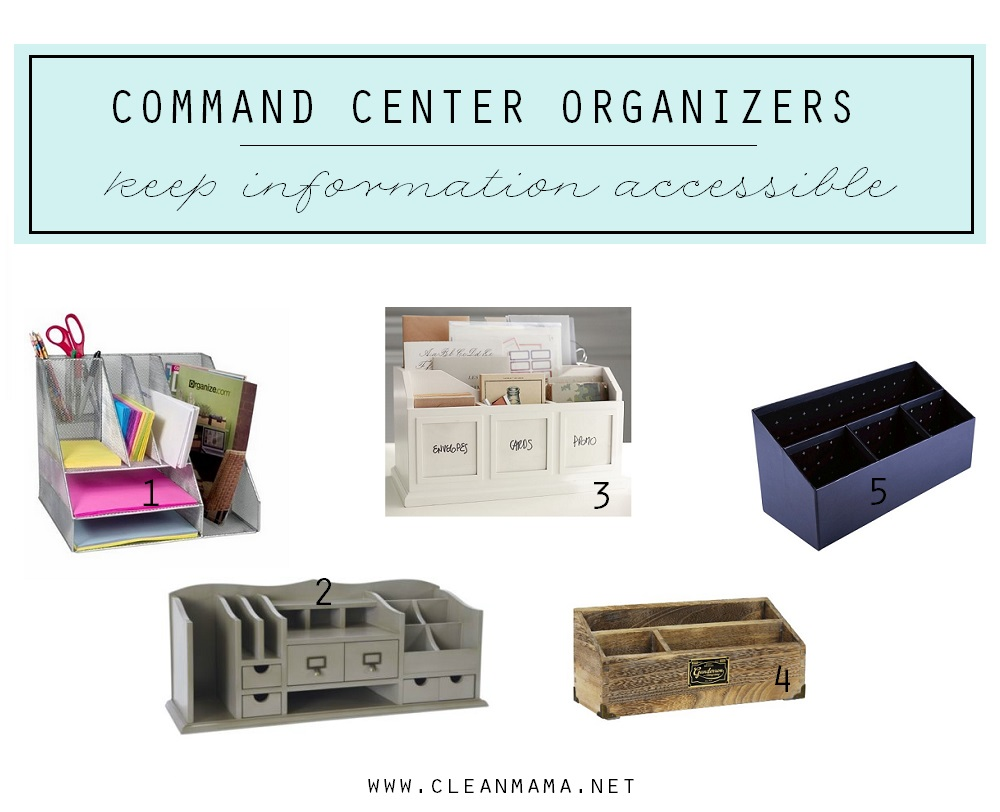 Command Center Organizer Inspiration via Clean Mama
