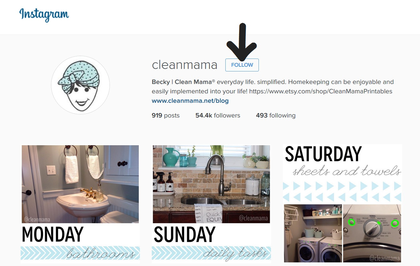 Follow Clean Mama on Instagram
