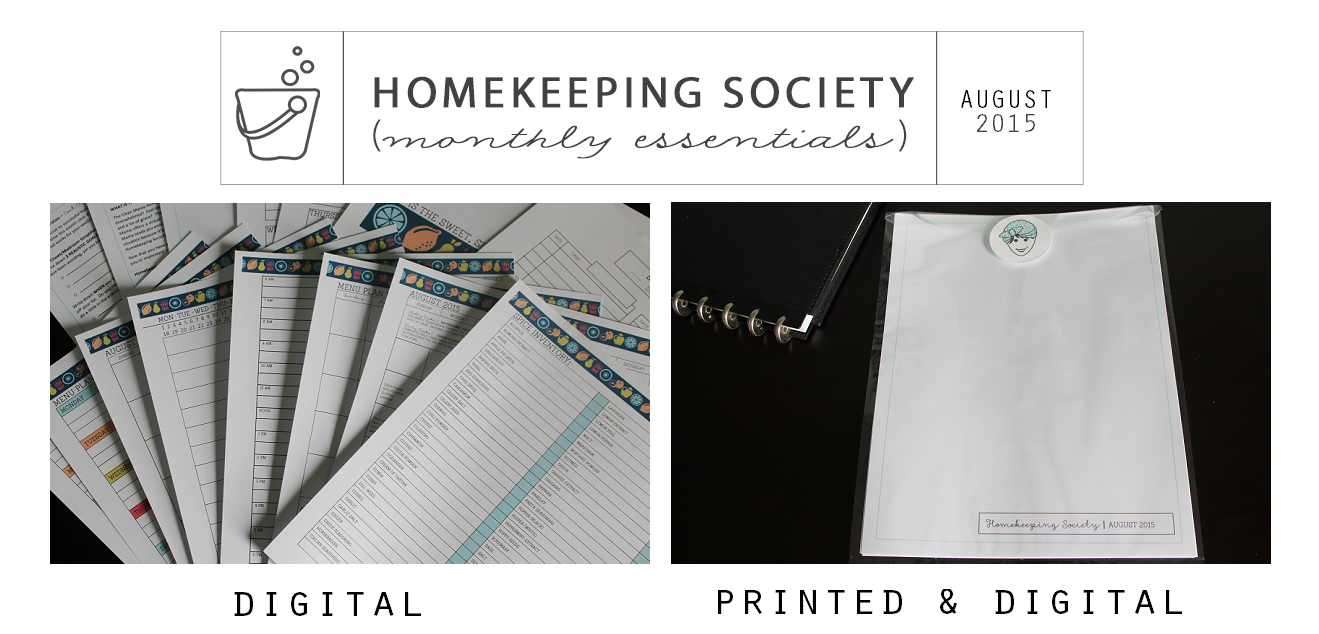 Homekeeping Society August 2015 Digital and Printed for You via Clean Mama