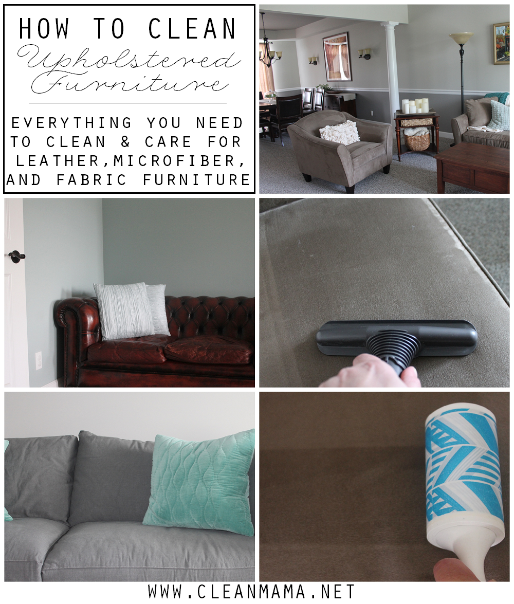 How to Clean Upholstered Furniture via Clean mama