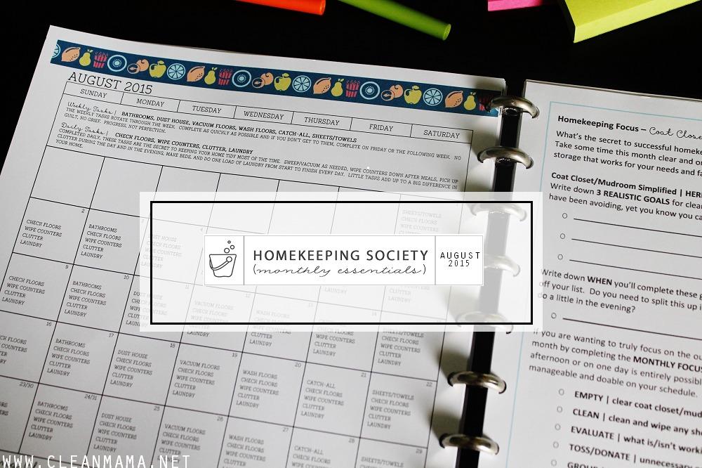 Main Image - August Homekeeping Society via Clean Mama